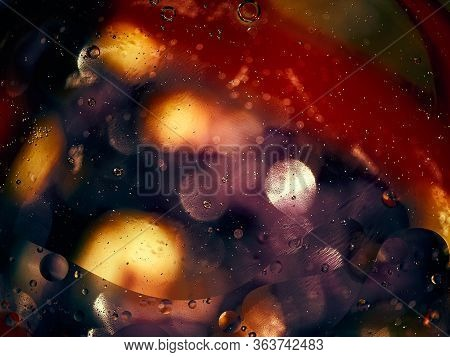Abstract Background In Dark Tones, Water, Drop