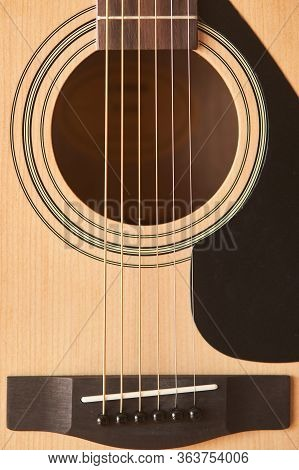 The Guitar Deck. Acoustic Guitar. Musical Instrument. Fretboard Acoustic Guitar