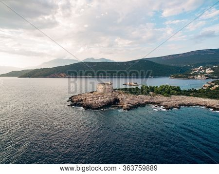 The Ancient Fort Arza At The Entrance To The Bay Of Kotor In Montenegro, In The Adriatic Sea, On The