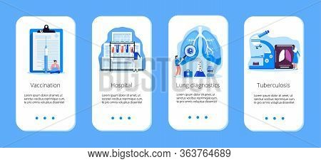 Concept Of Tuberculosis, Pneumonia, Lung Diagnosis X-ray Machine For Diagnosis, It Is Mobile Website