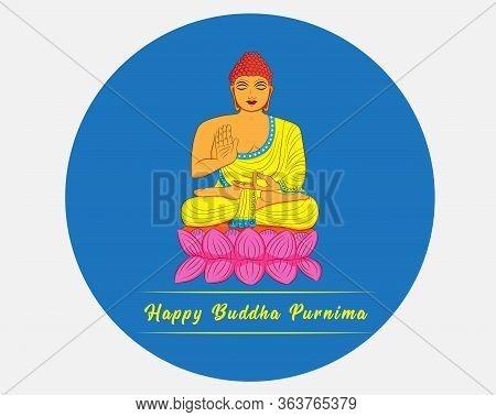 Illustration Of Buddha Purnima