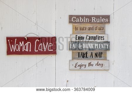 Funny Signs On The Outside Of A She Shed