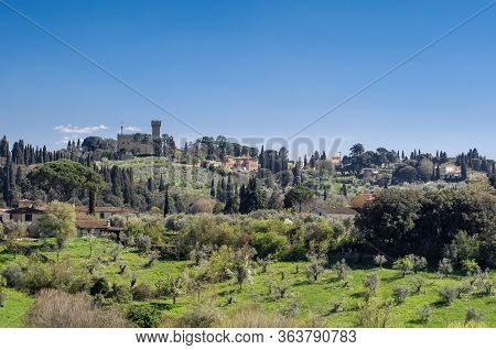 Panoramic View From From The Boboli Gardens. Torre Del Gallo.