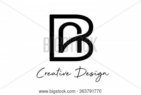 Monogram Creative Ab A B Letters  Logo. Abstract Business Logo Design Template. Initial Ab Ba Modern