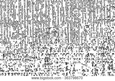 Abstract Pattern In The Style Of Ancient Writings. Black And White Background.