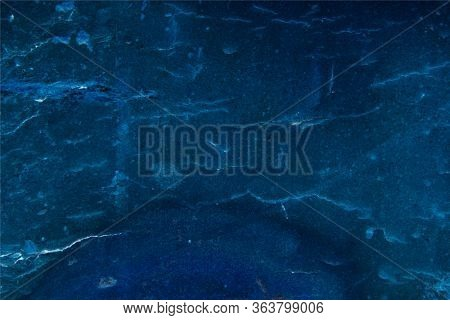 Deep Saturated Blue Color, Abstract Background, Processed Natural Material.