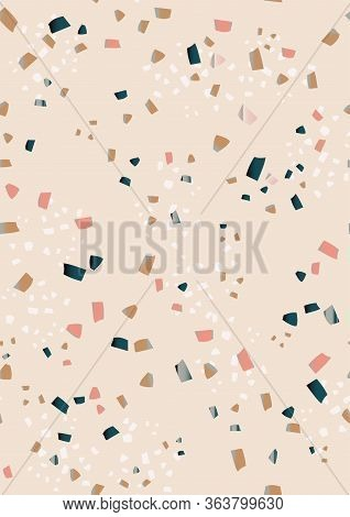 Terrazzo Veneziano Seamless Pattern. Marble. Hand Crafted And Unique Patterns Repeating Background.