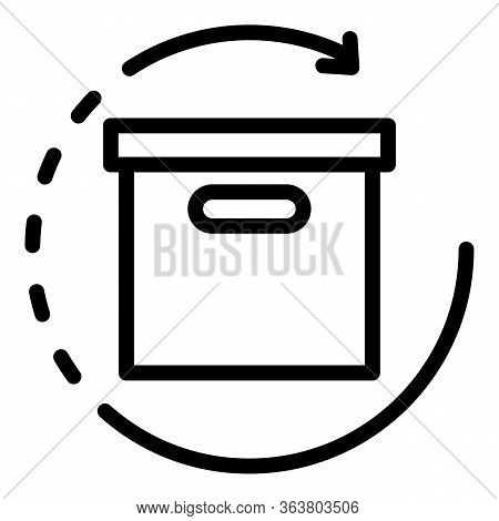 Product Manager Box Icon. Outline Product Manager Box Vector Icon For Web Design Isolated On White B