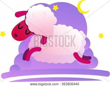 Lamb In Illustrator Lamb In Bed Lamb In Dreams