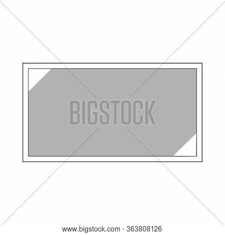 Full Screen Flat Icon, Vector Illustration On White Background.