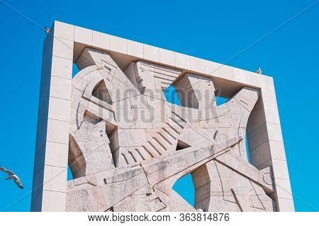 Rovinj, Croatia - July 17 2018: Monument To Fallen Fighters And Victims Of Fascist Terror In Rovinj