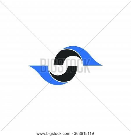Abstract Business Connection Logo,initial Letter S Graphic Logo Design Concept Template, Isolated On