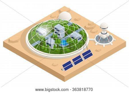 Isometric Mars Colonization, Biological Terraforming, Paraterraforming, Adapting Humans On Mars. Ast