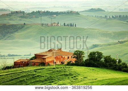 Typical landscape of Tuscany landscape, Italy