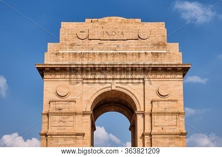 The India Gate War Memorial In New Delhi, India, Dedicated To 70,000 Soldiers Of The British Indian