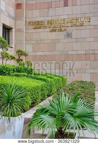 New Delhi / India - September 20, 2019: The Foreign Service Institute (fsi) Of The Ministry Of Exter