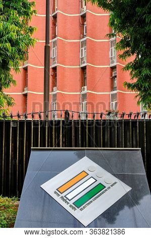 New Delhi / India - September 20, 2019: Headquarters Of The Election Commission Of India, An Autonom