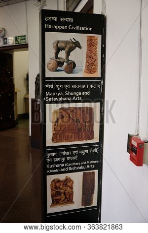 New Delhi / India - September 26, 2019: Exhibition Of Ancient Indian Civilizations In The National M