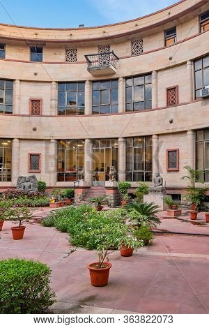 New Delhi / India - September 26, 2019: Interior Courtyard Of The National Museum Of India In New De