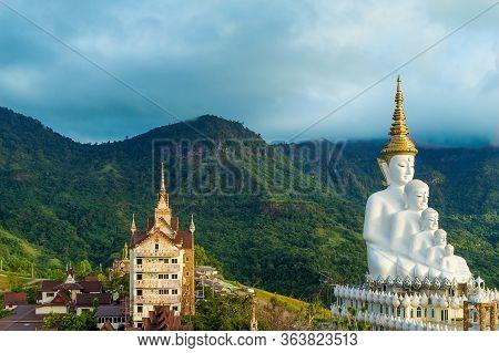 Five Buddha At Wat Pha Sorn Kaew In Khaokho,petchabun, Thailand