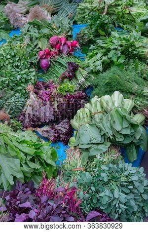 Leaf Vegetables, Also Called Leafy Greens, Salad Greens,vegetable Greens, Or Simply Greens, Are Plan