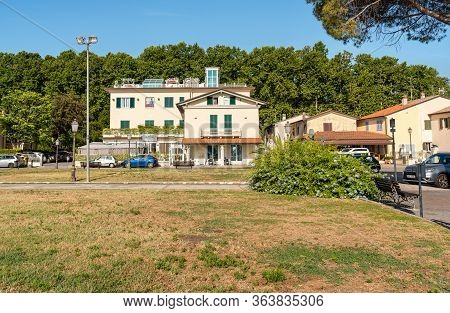 Squarq Of Torre Del Lago Puccini On Lake Massaciuccoli, Province Of Luca, Tuscany