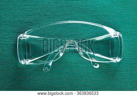 Protective Eyewear, Safety Goggles Protect The Eyes And Eye Sockets. Ppe For Protecting Healthcare P