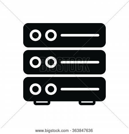 Black Solid Icon For Server Backup Datacenter