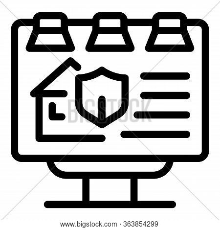 Advertising Billboard Icon. Outline Advertising Billboard Vector Icon For Web Design Isolated On Whi