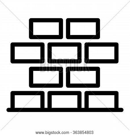 Brickwork Icon. Outline Brickwork Vector Icon For Web Design Isolated On White Background