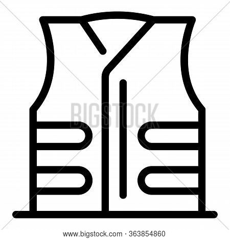 Scout Vest Icon. Outline Scout Vest Vector Icon For Web Design Isolated On White Background