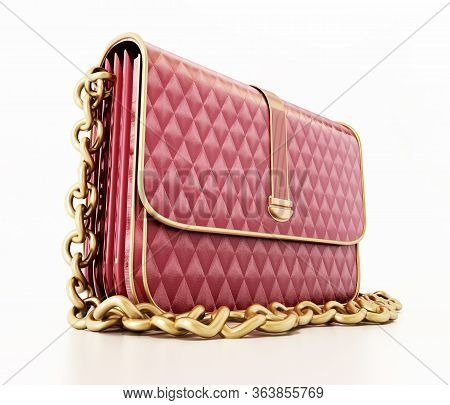 Women's Handbag Isolated On White Background. 3D Illustration