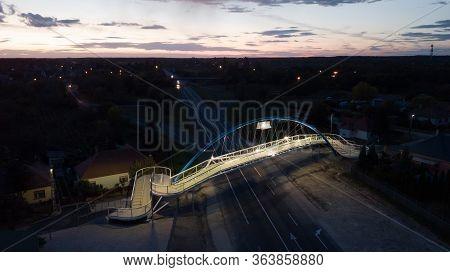 Gyorszentivan 09 27 2019 The New Bridge Of Gyor-gyorszentivan Was Handed Over At Night.