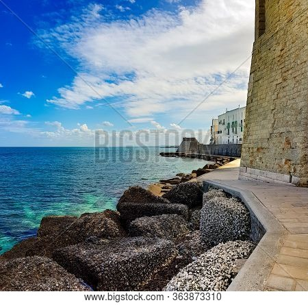 The Coastline On The Old City Part Of Bari, Italy