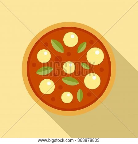 Dinner Pizza Cook Icon. Flat Illustration Of Dinner Pizza Cook Vector Icon For Web Design