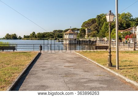 Torre Del Lago Puccini On Lake Massaciuccoli, Province Of Luca, Tuscany, Italy.
