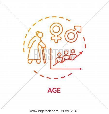 Age Concept Icon. Cardiovascular System Diseases, Social Cvd Factors, Aging Idea Thin Line Illustrat