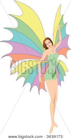 Butterfly-Woman In Dress