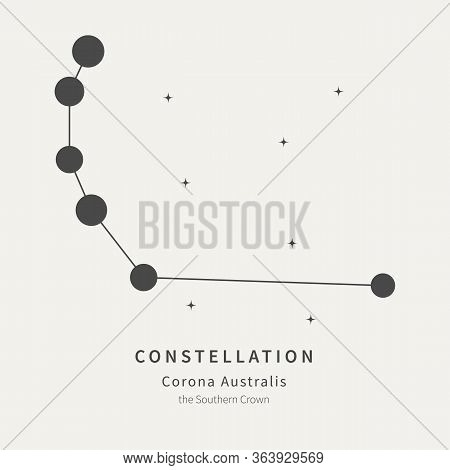 The Constellation Of Corona Australis. The Southern Crown - Linear Icon. Vector Illustration Of The