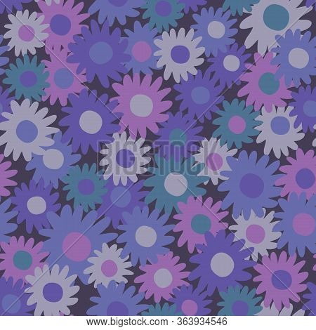 Tonal Daisy Vector Repeat. Perfect For Home, Kids, Stationary, Wrapping, Scrapbooking.