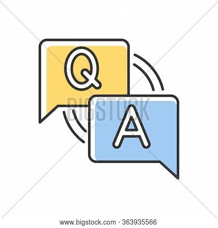 Faq Rgb Color Icon. Frequently Asked Questions. Customer Support Service. Answers For Clients. Lette