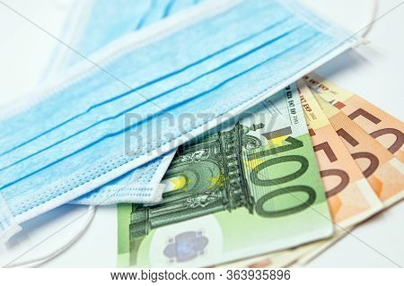 Surgical Face Masks And Euro Banknotes, Inflated Export And Import, Mandatory Masking, Covid-19 And