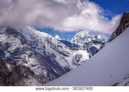 Mount Everest Among Clouds, 8848 M , Sagarmatha, Himalayas, Nepal