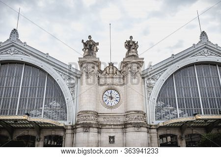 Architectural Detail Of The Tours Train Station