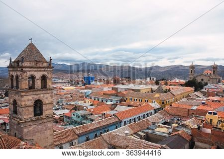 Panoramic View Of The City Of Potosi From The Roof Of The Convent Of San Francisco, Bolivia