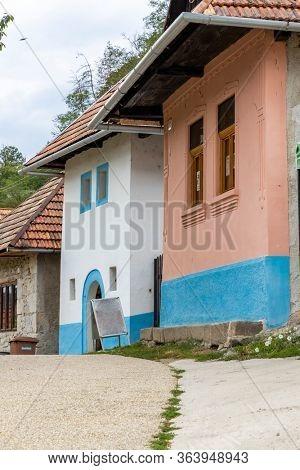 Rock dwelling in Brhlovce, Levice district, Nitra region, Slovakia