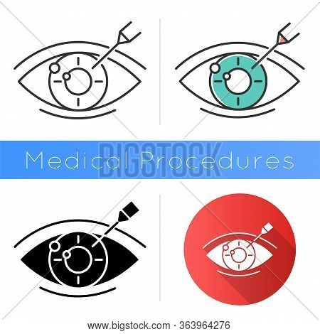 Vision Correction Icon. Medical Surgical Procedure. Astigmatism Treatment. Ophthalmology. Laser Oper