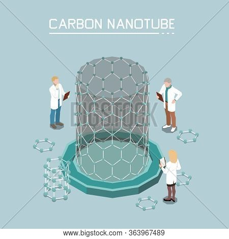 Nanotechnology Isometric Composition With Carbon Nano-tubes Growth From Graphene Nanoparticles Innov