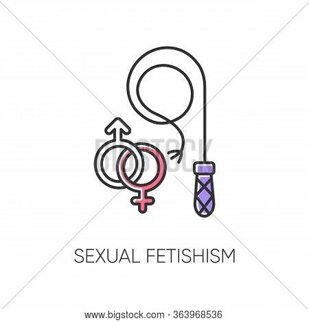 Sexual Fetishism Color Icon. Male And Female Erotic Play. Sex Toy Stimulation. Kinky Relationship. S