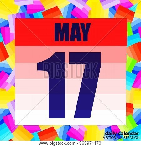 May 17 Icon. For Planning Important Day. Banner For Holidays And Special Days. Seventeenth Of May. I